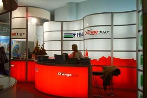 Стенд ORANGE-TUR на туристической выставке