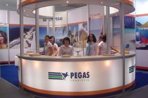 Стенд PEGAS на туристической выставке