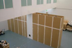 Монтаж стационарных стеновых конструкций