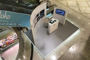 Торгово-выставочный стенд OMEGA в ТЦ ЕВРОПА